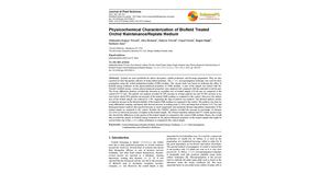 Physicochemical Characterization of Biofield Treated Orchid Maintenance/Replate Medium