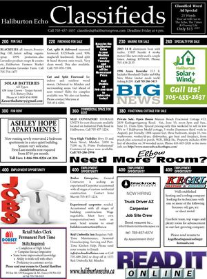 Classifieds June 6, 2017