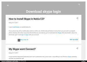 Calaméo - Download skype login problem