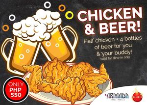 Cap Off The Day With Chicken Beer For Only P550 At Armada Hotel Until August 31 2017 92348