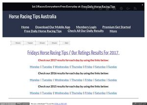 Fridays June 9th Horse Racing Tips Today's Results