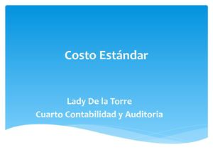 Costos Estandar Lady
