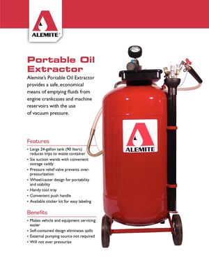 Alemite / Portable Oil Extractor