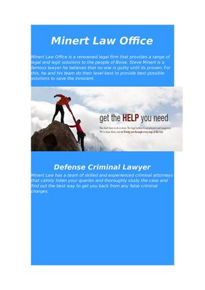 Boise Criminal Defense Attorney