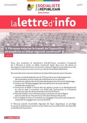 Newsletter 11 Groupe Ps Idf Juin 2017