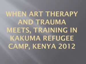 Trauma And Art Therapy