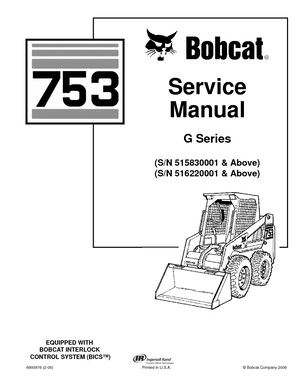 Calaméo Bobcat 753 Skid Steer Loader Service Repair Manual Sn