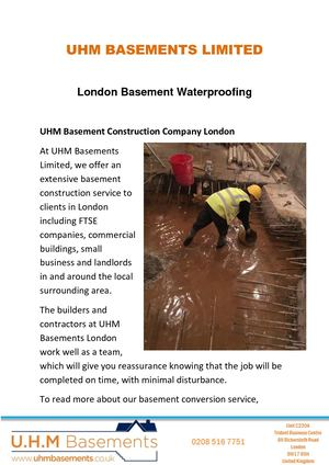 London Basement Waterproofing Service