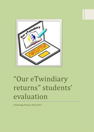 "Students' evaluation ""Our eTwindiary returns"""