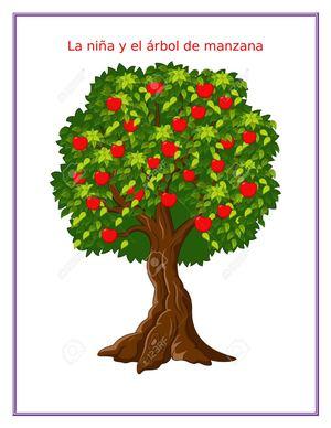 Calam o la ni a y el arbol de manzana for Arbol con raices y frutos