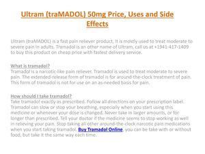 Street Price For Tramadol