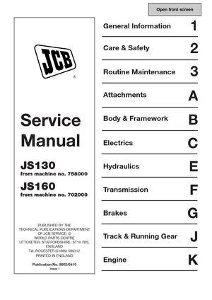 calam o jcb js130 tracked excavator service repair manual sn rh calameo com Briggs and Stratton Overhaul Manual Truck Manual