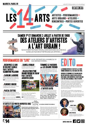 Les 14 arts : Gazette2017