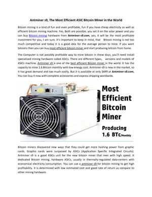 Calaméo - Antminer S9, The Most Efficient Asic Bitcoin Miner In The
