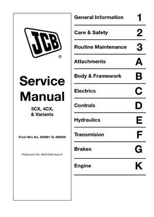 calam o jcb 4cx backhoe loader service repair manual sn400001 to rh calameo com JCB Backhoe Parts Diagram JCB 3CX Backhoe Hydraulic Diagram