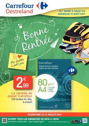 Calameo Carrefour Destreland Rentree Des Classes