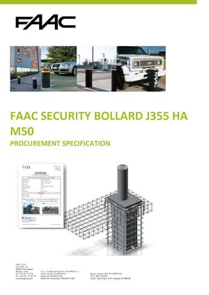 Faac Security Bollard J355 Ha M50 Specification