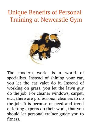 Unique Benefits Of Personal Training At Newcastle Gym