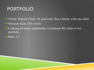 Wassim Zhani Security Analysis And Portfolio Management