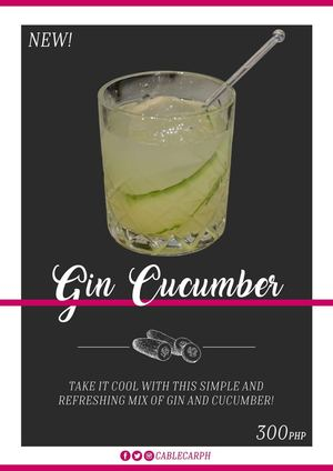 Cool Down With This Simple Refreshing Gin Cucumber From Cable Car93003 93003