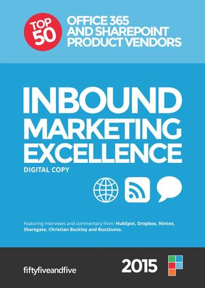 Inbound Marketing Excellence Report 2015 - Top 50 Microsoft Product Vendors