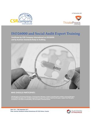 Iso 26000 And Social Audit Training Brochure