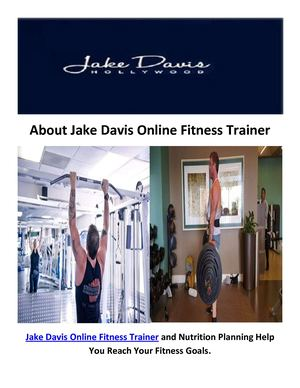 Jake Davis Online Personal Trainers In Los Angeles, Ca