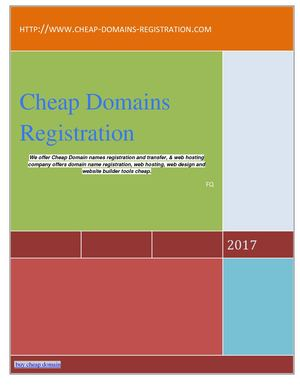 Buy cheap domain