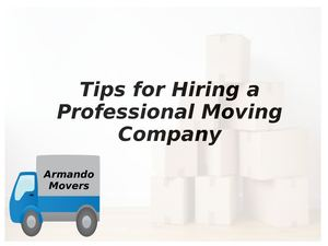 Tips For Hiring A Professional Moving Company
