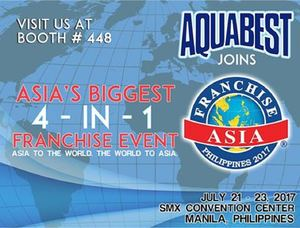 Join The Asias Biggest 4 In 1 Franchise Event With Aquabest At Smx Convention Center On July 21 23 93030
