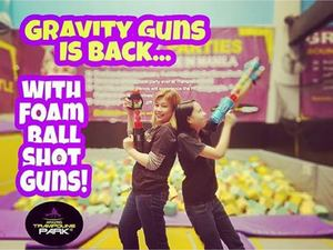 Book Your Gravity Guns Adventure With Foam Ball Shot Guns At Trampoline Park 93047