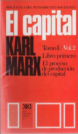 Marx El Capital Tomo 1 Vol 2