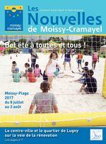 Les journal municipal d'information Nouvelles de Moissy-Cramayel Bel été à toutes et tous ! Moissy-Plage 2017 du 8 juillet au 3 août Le centre-ville et le quartier de Lugny sur la voie de la rénovation Lire pages 6-7 N° 260 juillet/août 2017