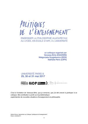 Copie De Colloque Philo Et Enseignement