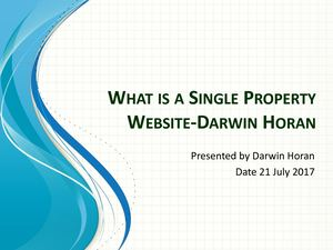What Is A Single Property Website Darwin Horan