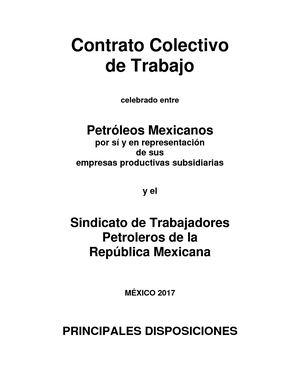 Calameo Contrato Colectivo De Trabajo 2017 2019