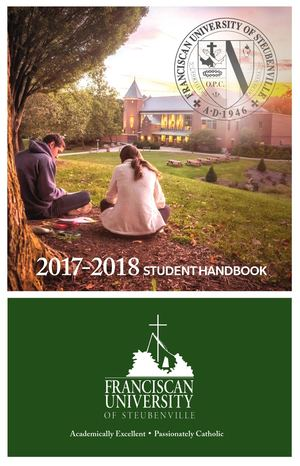 Calaméo - Student Handbook 2017-18 Franciscan University Of