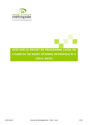 "Avis ""Programme local de l'habitat"""