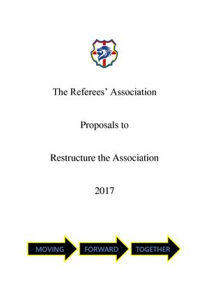 Restructuring Proposals