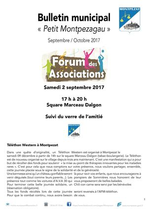 Bulletin municipal  et associatif septembre octobre 2017
