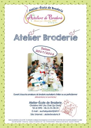 Atelier Ecole Broderie Catalogue 2017 2018