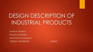 Design Description Of Industrial Products