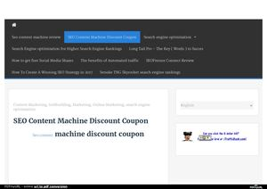 Seo Content Machine Discount - 25% off coupon code