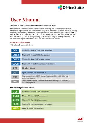 Office Suite User Manual