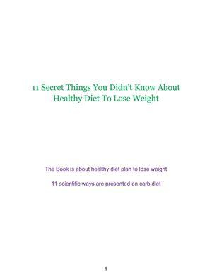 11 Secrets Diet Plan