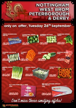 All Depots Chinese Special 26th September