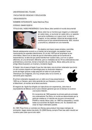Calameo Resumen Video Steve Jobs