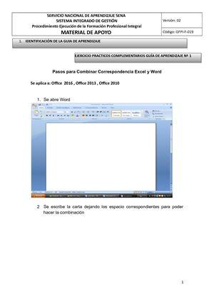 Calaméo - Combinar Correspondencia Con Una Hoja De Cálculo De Excel 1