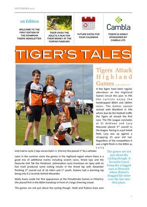 Tigers Tales September 2017