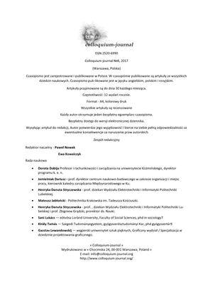 c09e38492656 Calaméo - Colloquium Journal №8